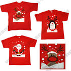 Christmas T Shirt Santa Reindeer Penguin Novelty Xmas Tee Themed Festive Red Top