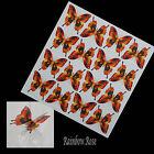 Transparent Film Butterfly #27 RED YELLOW BLACK transparency 3D - suncatcher etc