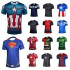 Superhero Marvel Comics Costume Cycling Tee T-Shirts Short Sleeve Bicycle Jersey