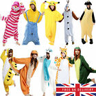 Hot Fancy Dress Cosplay Onesie Adult Unisex Hooded Pyjamas Animal Sleepwear Uk