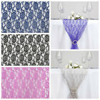 """10 pcs 14x108"""" Wedding LACE Flowers TABLE RUNNERS Party Dinner Decorations"""