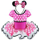 Baby Girl Minnie Mouse Xmas Costume Dance Fancy Party Tutu Dress + Ear 2T - 10