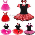 Kids Girls Baby Toddler Minnie Mouse Cosplay Costume Fancy Tutu Dress Up + Ear
