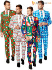 Mens Christmas OppoSuit Adult Xmas Party Festive Oppo Suit Fancy Dress Costume