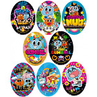 The Amazing World Of Gumball Oval Patches Woven Iron / Sew On Motif Applique