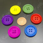 25 25mm WOODEN BUTTONS 4 HOLE ROUND BUTTONS CRAFT SEWING BUTTONS SCRAPBOOKING
