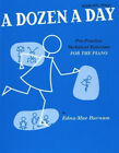 A DOZEN A DAY BOOK 1 PIANO (BLUE) - EDNA MAE BURNAM Sheet Music Book Exercises