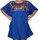 PLUS SIZE ASSORTED PEASANT PUEBLA EMBROIDERED MEXICAN BLOUSE TOP 3XL 4XL MACHINE
