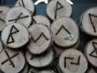 Oak Elder Futhark Runes - with Bag & Information sheet - Pagan, Wicca, Norse