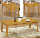 York Coffee Table Nest Of Tables OR Lamp End Table Rubberwood with Oak Finish