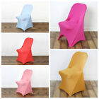 50 pcs Spandex Fitted Folding CHAIR COVERS for Wedding Reception Party Supplies