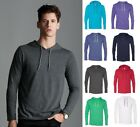 Anvil Men's Ringspun Cotton Lightweight Hooded Hoodie Shirt-9 COLORS-987 S-2XL