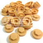 "16mm BAMBOO YELLOW HEXAGONAL SCREW COVER CAPS TO FIT 8mm 5/16""TEK SCREWS (AM1)"