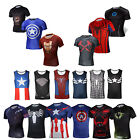 Men's Women Marvel The Avengers Batman Superheros T-Shirts Cycling Jerseys Yoga