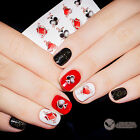 1 Sheet Poker Spade Pattern Nail Atr Water Decals Transfer Sticker XF1360