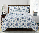 Luxury Miranda Coverlet set, Wrinkle Free Printed Bedspread Set Reversible Quilt image