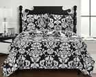Luxury Catherine Coverlet set, Wrinkle Free Printed Bedspread, Reversible Quilt image