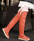 Womens Snow Boots Warm Plush Inside Flat Pull On OverThe Knee High Leg Boots Sz