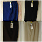 NEW LADIES PLUS SIZES 26-30 ELASTICATED SHORT LENGTH TROUSER WITH SIDE POCKETS
