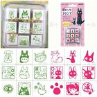 JAPAN MADE GHIBLI STUDIOI TOTORO KIKI DELIVERY WOODEN 9 MINI STAMPS SET WITH BOX