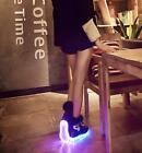Hot Sale LED Luminous PU Leather Shoes Punk Womens Winter Warm Fur Ankle Boots