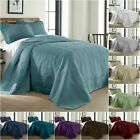 Chezmoi Collection Kingston 3-piece Oversized Bedspread Coverlet Set (5 Colors) image
