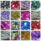 7mm ROUND CUPPED HOLOGRAPHIC SEQUINS  *19 COLOURS* SEWING CARD CRAFTS CONFETTI