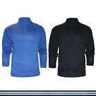 Mens Jumper Zip Neck Knit Knitted Cotton Sweater Pullover Stallion S M L XL XXL