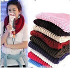 Fad Ladies Women Wool Knit Winter Warm Knitted Neck Circle Cowl Snood Scarf Gift