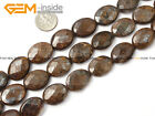 """Oval Faceted Flat Bronzite Jewelry Making Gemstone Beads Strand 15"""" Size Pick"""