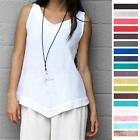 OH MY GAUZE Cotton JULIA V-Neck Hem Tank Top 1 (S/M) 2 (L/XL) 3 (1X) 2015 COLORS