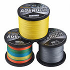 8 Strands Agepoch 100M-1000M 10LB-100LB 5 Colors PE Dyneema Braided Fishing Line
