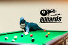 BILLIARDS POOL BALL SPORT GAME WALL VINYL STICKER MURAL ART DECAL FLAMES $34.95 USD on eBay