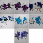2PCS Corsage Boutonniere Set Iris Pick from Many Colors and also accent flowers