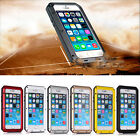 Fingerprint Military Shockproof Metal Gorilla Glass Case For iPhone 5S 6s 6 Plus