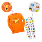 2pcs Kids Boy Girl Cotton Long-sleeved Baby Clothes Sleepwear Nightwear Outfits