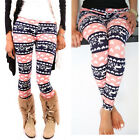 Christmas Ladies Skinny Print Leggings Stretchy Sexy Jeggings Pencil Slim Pants