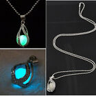 New Luminous Glow in the dark Water Drop Chain Pendant Necklace for Unisex Gifts