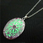luminous Steampunk Pretty Magic Fairy Locket Glow In Dark Pendant Necklace  YS