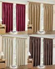 APOLLO THERMAL BLOCKOUT LINED TAPE TOP CURTAINS READY MADE PENCIL PLEAT PAIRS