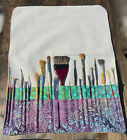 Extra Long Artist's Paint Brush Case/ Roll in Heavy Weight Natural Canvas