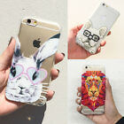 Cute Dog Animals Hard Back Transparent Case Cover Skin For iPhone 5 5S 6 6S Plus