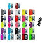 Hybrid Mesh Hard/soft Silicone Case Cover+cable Wrap For Iphone 5 5s Accessory