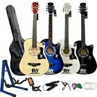 "38-40"" 4/4 FULL SIZE 6 STRING ACOUSTIC GUITAR PACKAGE PACK BOYS GIRLS MUSIC FUN"