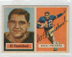 Al Carmichael 1957 Topps signed autographed card Green Bay Pacers