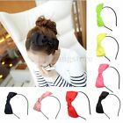 Lady Girl Cute Big Bowknot Ribbon Hair Accessory Headband Bow Head Band Clip HOT