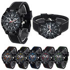 Geneva Sports Watch Mens Watch Fashion Wristwatches Silicone Band Free Shipping