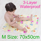 75x60cm Baby Washable Urine Pad Pure Cotton Changing Mat Nappy Cover Change Pad