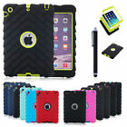 Durt Shock Proof Hybrid Heavy Duty Hard Case Cover For Apple iPad 2 3 4 Mini 1