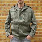 NEW VINTAGE STYLE FRENCH ARMY SURPLUS F2 104cm GREEN COTTON COMBAT BOMBER JACKET